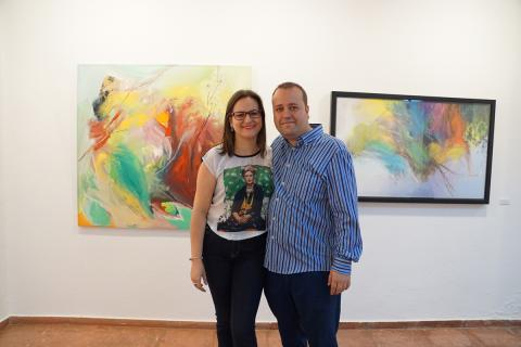Antonia Blanco y Ramón Cruz Alcázar el día de la inauguración