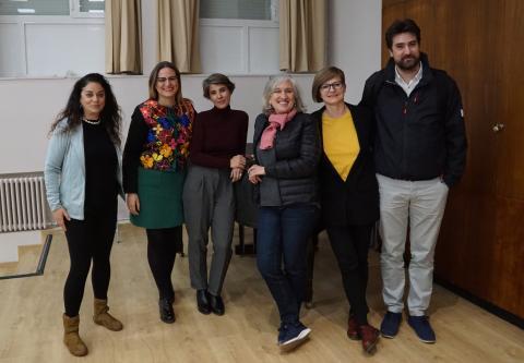 Inmaculada Salinas, Antonia Blanco, Mónica Carabias, Nancy Friedemann, Hanna Jarzabek, y Alejandro