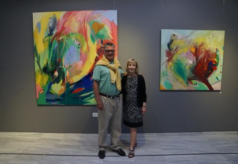 Mis amigos Dennis y LuAnn Haley en la inauguración
