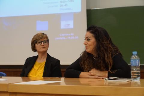 Hanna Jarzabek e Inmaculada Salinas. Día 20 de noviembre de 2019. Primera sesión del seminario