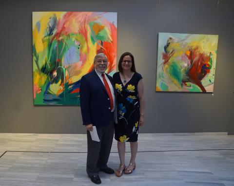 Antonio Zambrana y Antonia Blanco en la inauguración