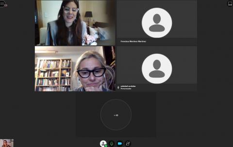 Sesión de debate junto a Cristina Ulloa y Marta de la Rocha