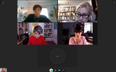 Sesión de debate junto a Soledad Córdoba, Marta de la Rocha y Mónica Carabias