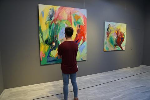 En la inauguración de la exposición