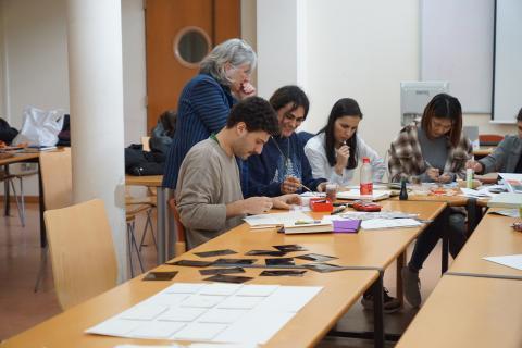 Día 21 de noviembre de 2019. Segunda sesión del seminario: workshop con la artista Nancy Friedemann