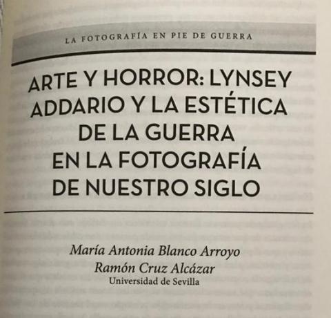Arte y Horror: Lynsey Addario y la estética de la guerra en la fotografía de nuestro siglo