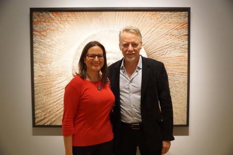 Con el artista Edward Burtynsky en la galería Robert Koch de San Francisco
