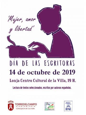 Cartel. Día de las escritoras en Torredelcampo