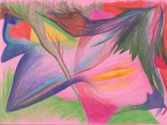 """#34"", serie ""Diario 23"", lápiz de color sobre papel. 16 x 22 cm, 2020"