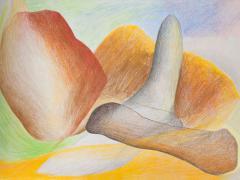 """""""#6"""", serie """"Sensualidades"""", lápiz de color sobre papel, 24 x 34 cm, 2011"""
