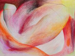 """""""#26"""", serie """"Sensualidades"""", lápiz de color sobre papel, 24 x 34 cm, 2011"""