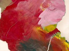 """""""#13"""", serie """"Mundos de papel"""", pintura sobre tela montada en bastidor, 32 x 23 cm, 2017"""