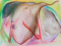 """""""#21"""", serie """"Sensualidades"""", lápiz de color sobre papel, 24 x 34 cm, 2011"""