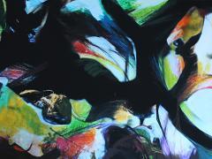 """""""Sobre el paisaje #5"""", ceras sobre fotografía, 80 x 120 cm, 2009"""