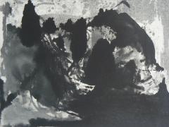 """Paisaje grabado"", aguatinta al azúcar, 2008"
