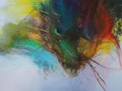 """""""Sobre el paisaje #6"""", ceras sobre fotografía, 70 x 100 cm, 2009"""