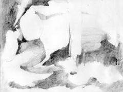 """#1"", serie ""Esencia de grises"", grafito sobre papel, 17 x 21,5 cm, 2008"