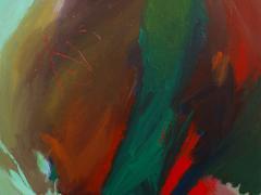 """""""Cabeza de león enamorado"""", acrílico sobre tabla, 190 x 100 cm, 2011"""