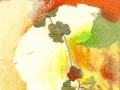 """""""#54"""", serie """"Memoria de Alcalá"""", ceras y collage sobre papel, 15 x 20,5 cm, 2009"""