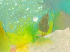 """""""#59"""", serie """"Memoria de Alcalá"""", ceras y collage sobre papel, 15 x 20,5 cm, 2009"""