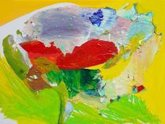 """""""#28"""", serie """"Mundos de papel"""", pintura sobre tela montada en bastidor, 23 x 32 cm, 2017"""