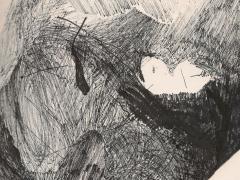 """""""#6"""", serie """"Relieves dibujados"""", tinta y collage sobre papel, 29 x 20 cm, 2010"""