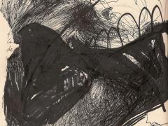 """""""#15"""", serie """"Relieves dibujados"""", tinta y collage sobre papel, 29 x 20 cm, 2010"""