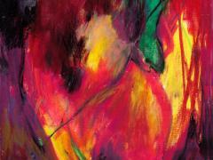 """Serie """"Poética de lo inmediato"""", ceras sobre papel, 29 x 20 cm, 2008"""