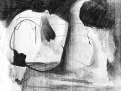 """#8"", serie ""Esencia de grises"", grafito sobre papel, 17 x 21,5 cm, 2008"