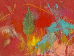 """""""#58"""", serie """"Memoria de Alcalá"""", ceras y collage sobre papel, 15 x 20,5 cm, 2009"""