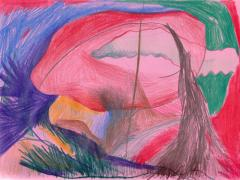 """#16"", serie ""Diario 23"", lápiz de color sobre papel. 16 x 22 cm, 2020"