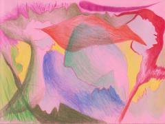 """#37"", serie ""Diario 23"", lápiz de color sobre papel. 16 x 22 cm, 2020"