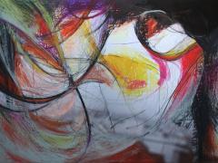 """""""Sobre el paisaje #4"""", ceras sobre fotografía, 70 x 100 cm, 2009"""