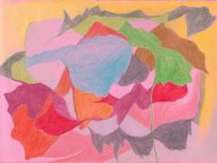 """#35"", serie ""Diario 23"", lápiz de color sobre papel. 16 x 22 cm, 2020"