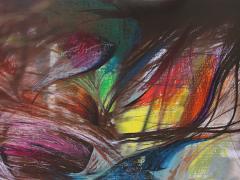 """""""Sobre el paisaje #3"""", ceras sobre fotografía, 70 x 100 cm, 2009"""