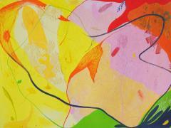"""""""Impresión de color III"""", pintura sobre impresión digital, 2017"""