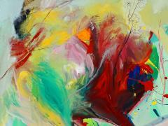 """""""Sin título"""", acrílico sobre tabla, 123,5 x 132 cm, 2017"""